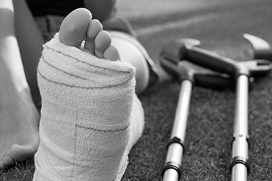 Sprains, strains and fractures